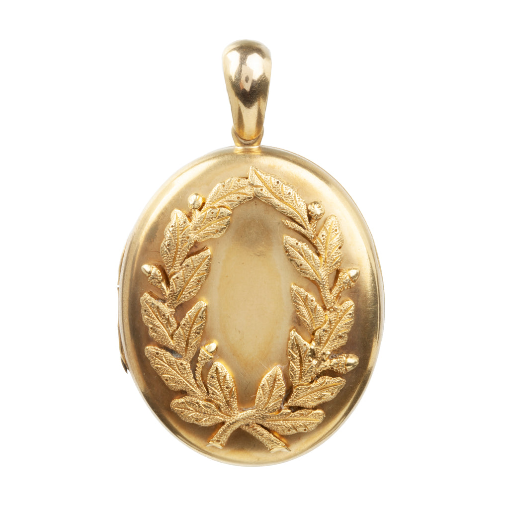 19th Century Wreath Gold Locket Reserved*