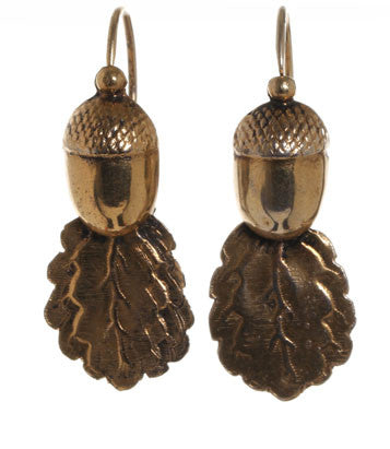 19th Century French Acorn Earrings