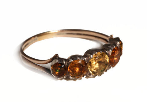 Georgian Closed Back Citrine Ring