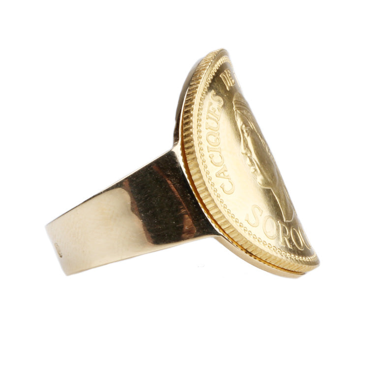 Custom Gold Coin Ring