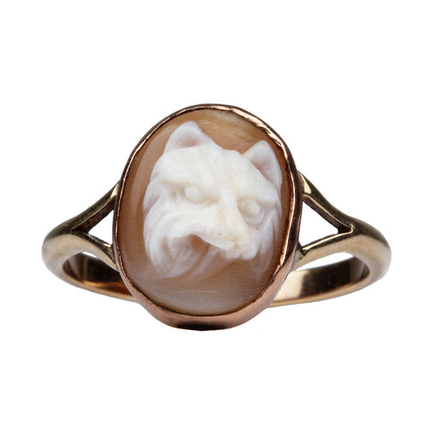 Victorian Era Fox Cameo Ring