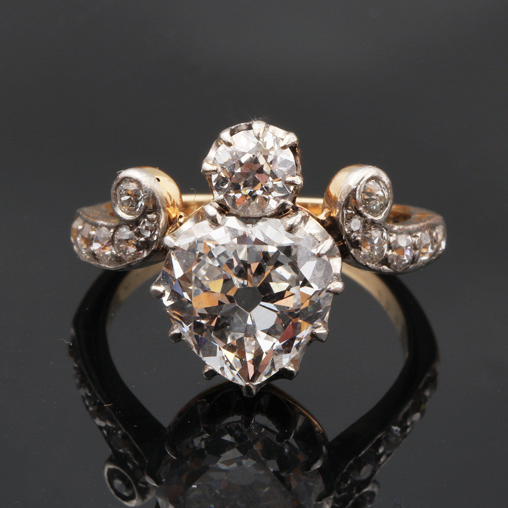 Edwardian Heart Shape Diamond Ring