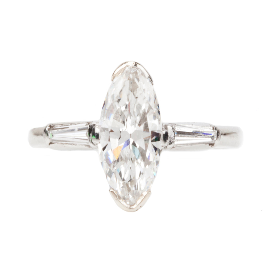 Art Deco Marquise cut Diamond Ring