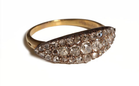 English Diamond Navette Ring