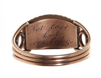 Not Lost But Gone Before Mourning Ring