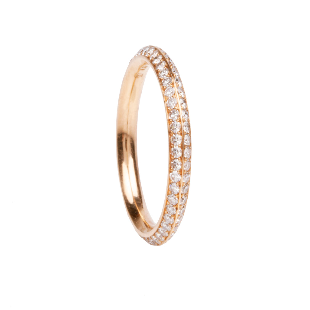 Knife Edge Double Diamond Eternity Band