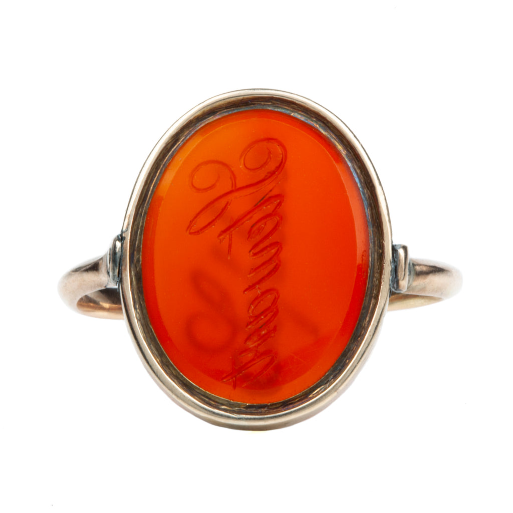 19th Century Hardstone Flip Ring