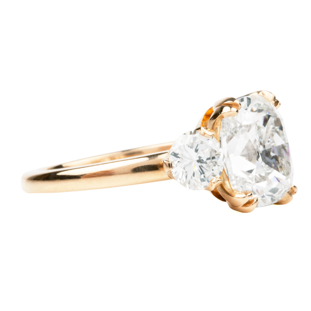 Cushion Cut Diamond Three Stone Ring