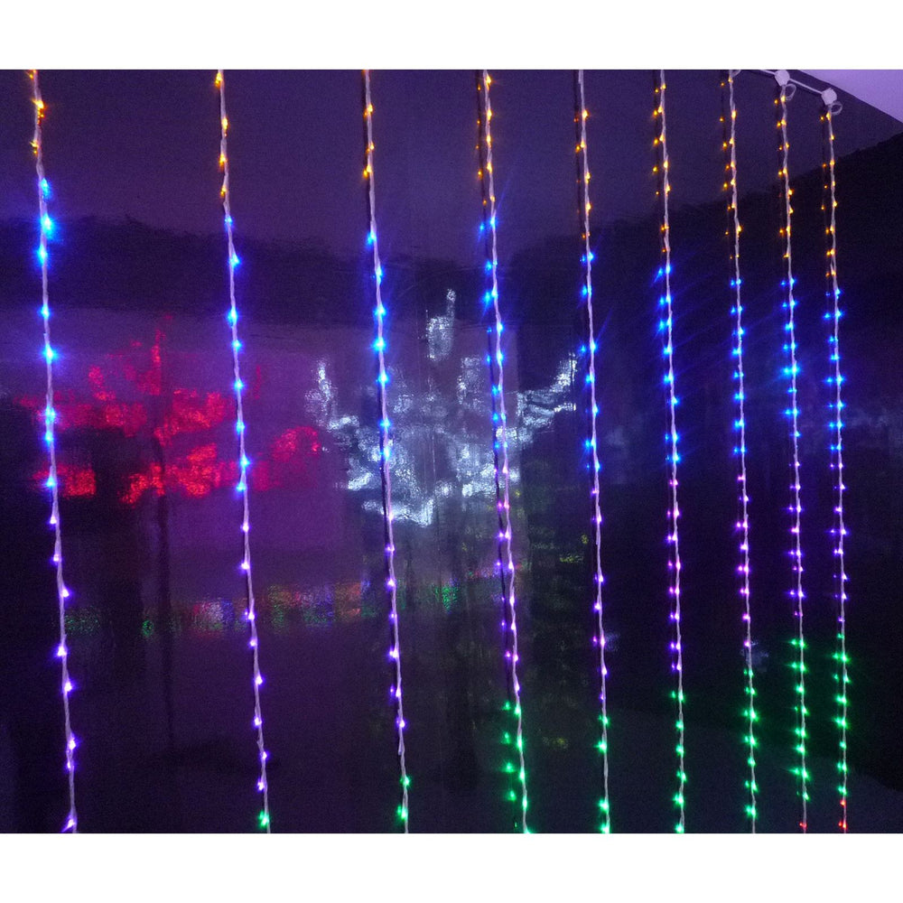 Mr Crimbo 400 Multicoloured LED Curtain Christmas Lights
