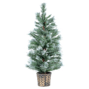 artifical potted christmas tree in antique bronze plant pot