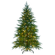 6ft pre-lit mixed pine christmas tree with 350 warm white LED lights