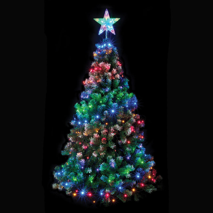 LED christmas tree net light with star topper