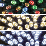 christmas string lights with remote control available in warm white, bright white and multi colour options