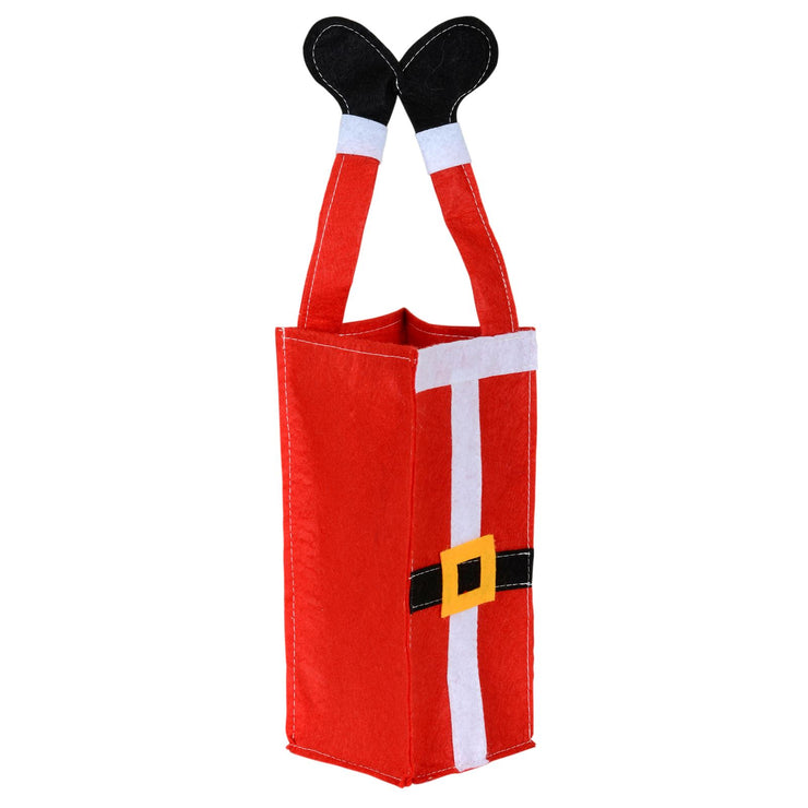 front view of felt christmas gift bag