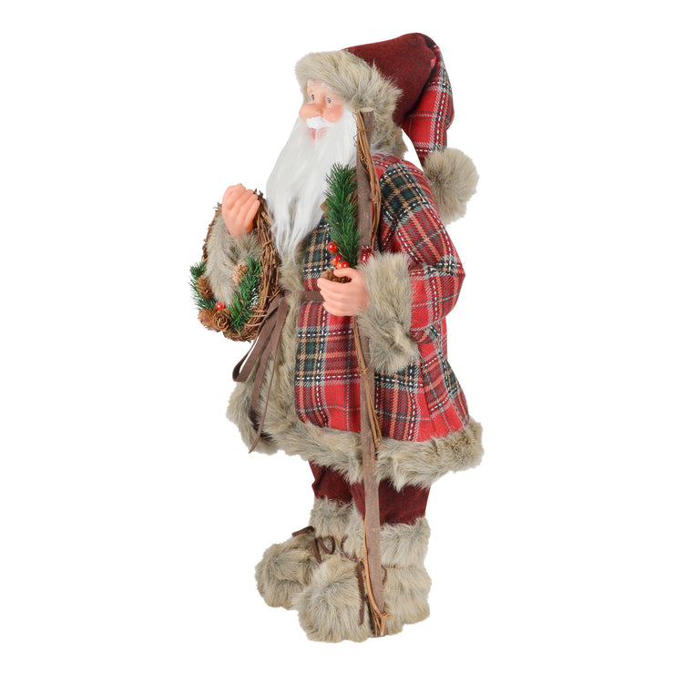 side view of santa plush figure