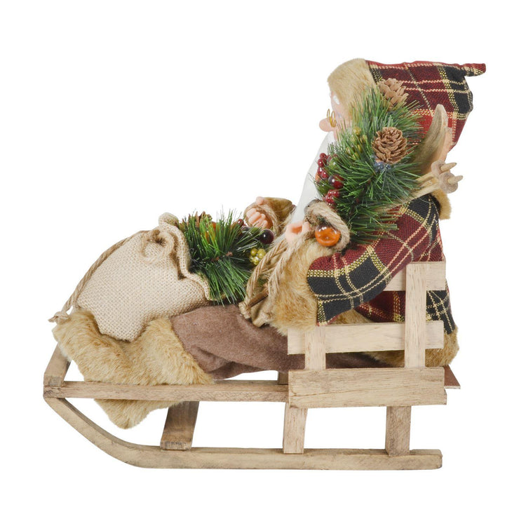 side view of santa on sleigh