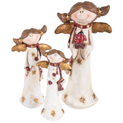 resin angel christmas ornament in 3 sizes