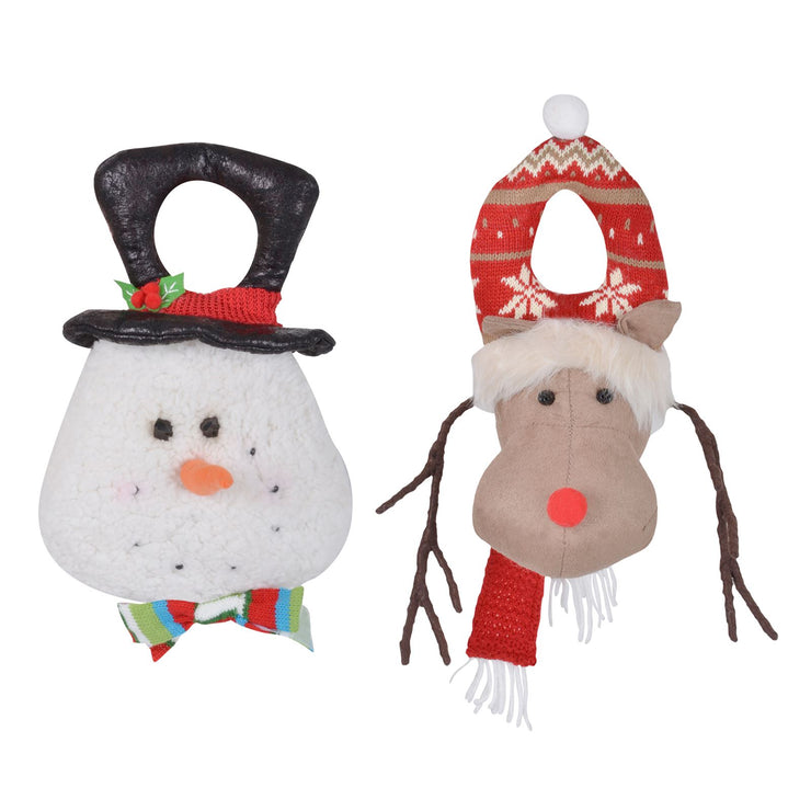 christmas door hanger available in snowman and reindeer designs