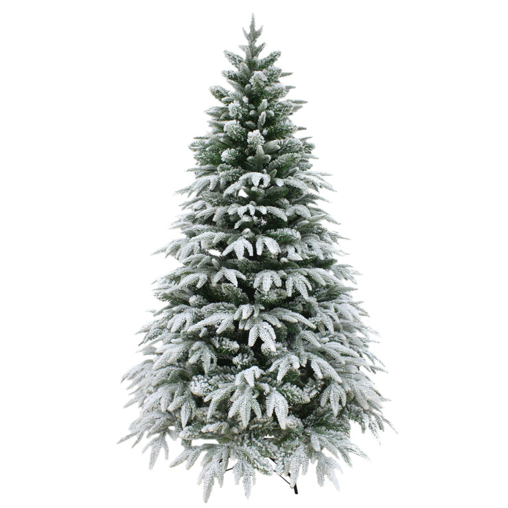 luxury snow frosted christmas tree available in 6ft or 7ft sizes