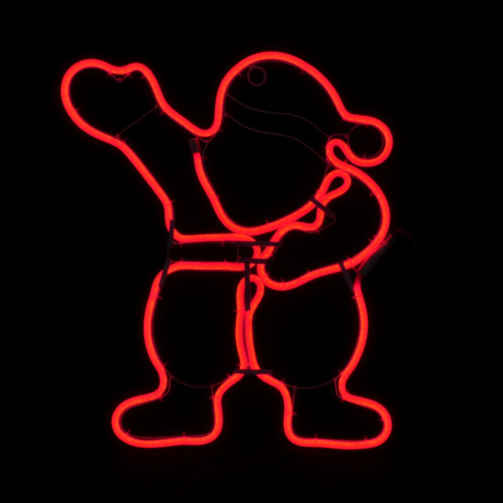Mr Crimbo Neon LED Santa Outdoor Christmas Xmas Rope Light Sign