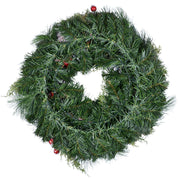 "back view of 24"" christmas wreath"