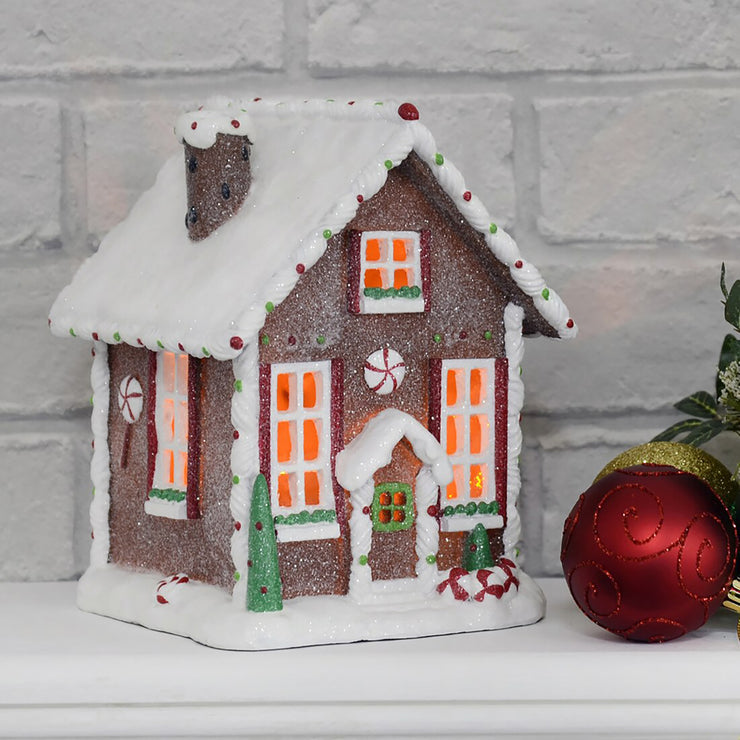 light up glitter gingerbread house christmas decoration house ornament