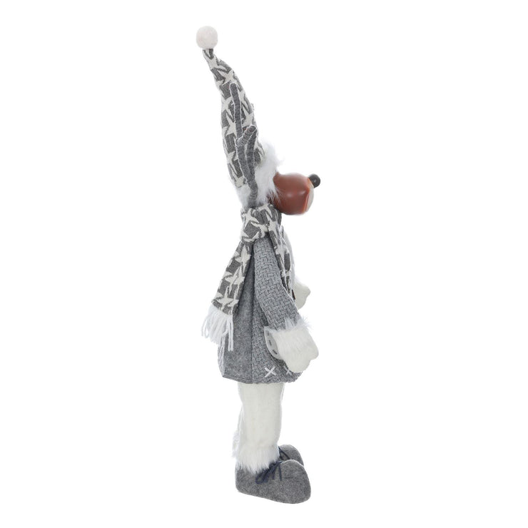 "side view of 19"" scandi reindeer decoration"