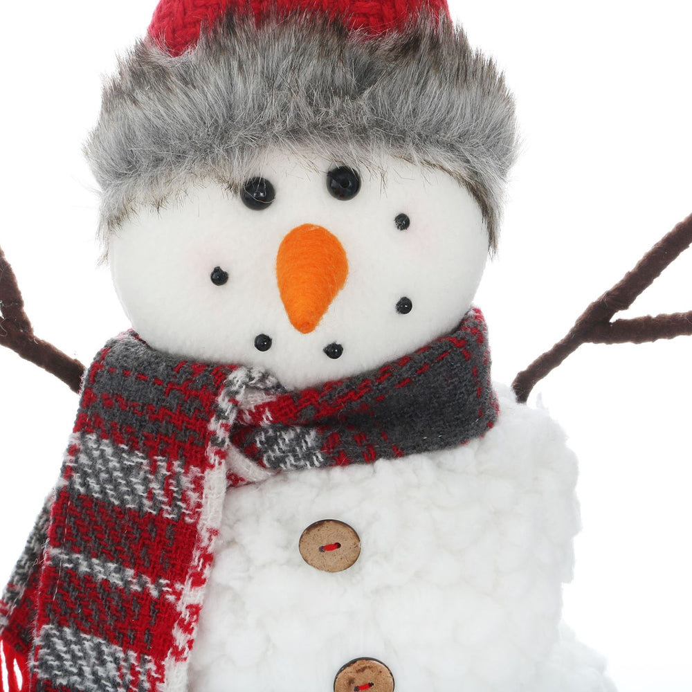 Mr Crimbo Snowman Christmas Figure With Hat & Scarf 35cm