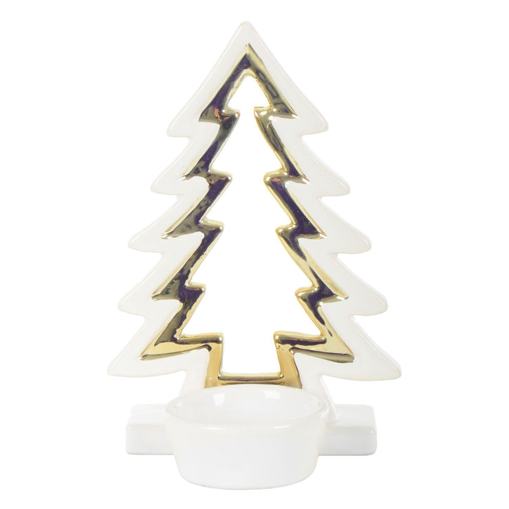 back view of christmas tree candle holder