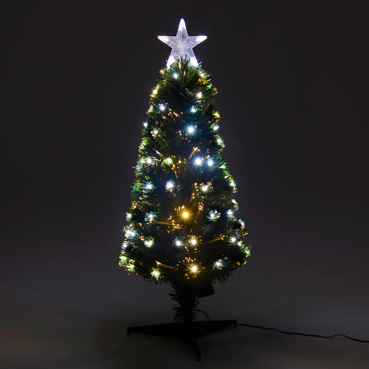 80cm pencil tree with fibre optic lights and star toppers