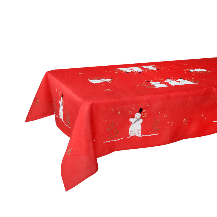 "52 x 90"" singing snowman tablecloth"