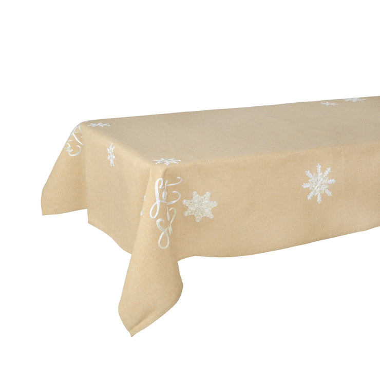 Mr Crimbo Let it Snow Embroidered Tablecloth/Napkin