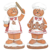 gingerbread lady glitter christmas decorations available in cookie or rolling pin designs