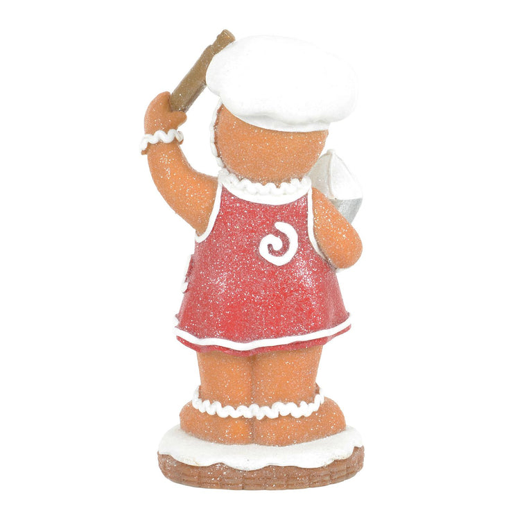 back view of 20cm gingerbread lady figure