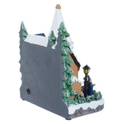 back view of christmas church ornament decoration with power jack