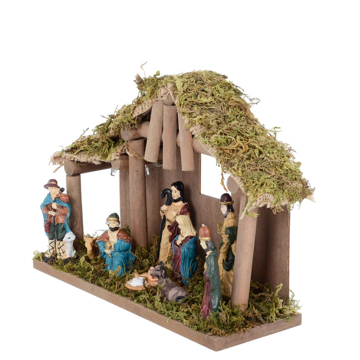 side view of nativity scene