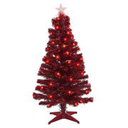4ft pre lit christmas tree with fibre optic lights, star tree topper and individual star lights