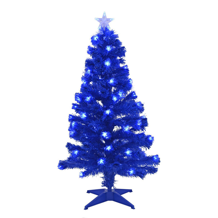 4ft pre-lit blue christmas tree