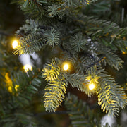 close up of realistic branches with warm white led lights