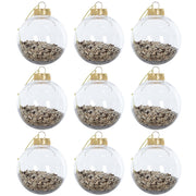 foil filled shaker christmas tree baubles in gold