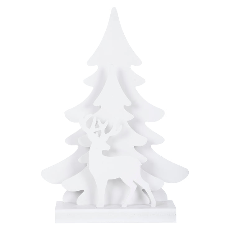 front view of reindeer tree silhouette decoraiton