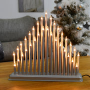 candle bright ornament with 33 lights on coffee table in lounge