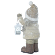 Mr Crimbo Santa Snowman With White Lantern Ornament 46cm