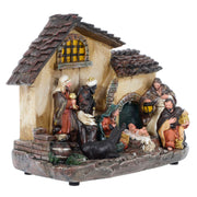 Mr Crimbo LED Nativity Scene Resin Christmas Decoration 29cm