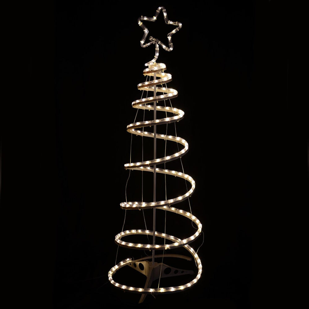 Mr Crimbo Multi-Action Spiral Tree Rope Light Indoor / Outdoor Decoration