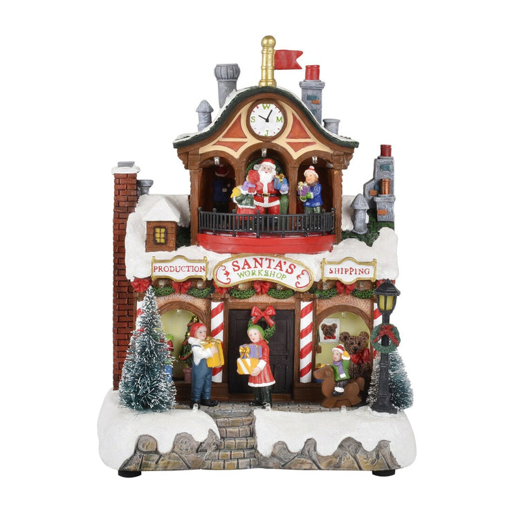 Mr Crimbo Light Up Christmas Resin Ornament Snow Scene