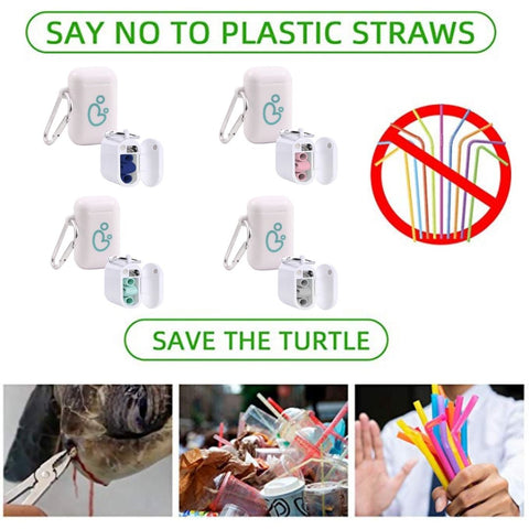 Say no to plastic straw save the turtle
