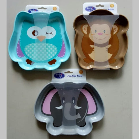 Image of Cute Baby Plate Animal Design