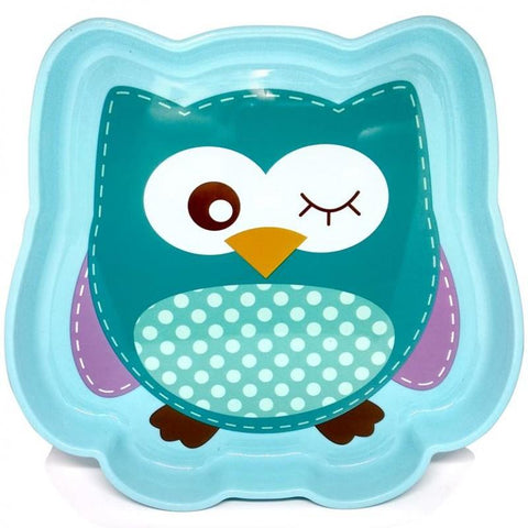Image of Baby Safe Feeding Plate Owl Design