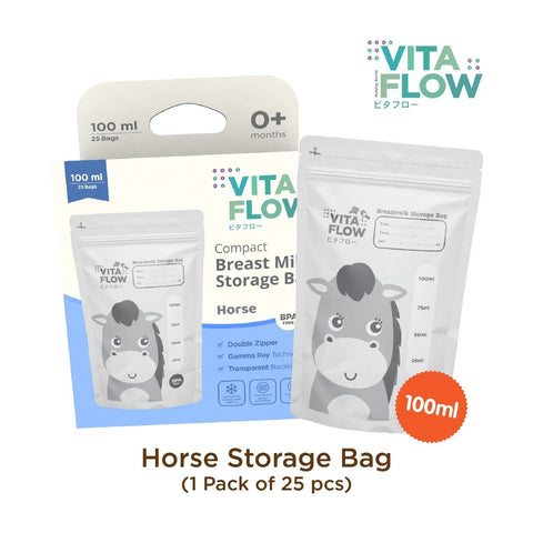 Image of Horse Compact Breastmilk Storage Bags 100ml